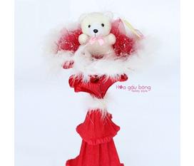 Hoa gấu bông thật dễ thương và ý nghĩa cho ngày 8/3 và valentine trắng