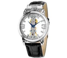 Đồng hồ Stuhrling Original Men s 165E.33152 Lifestyles Winchester Spire Mechanical Skeleton Silverto