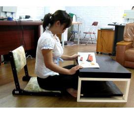 Ghế ngồi không chân : Ngồi với bàn để máy tính Laptop, Nền nhà, giúp bạn không đau lưng khi ngồi lâu