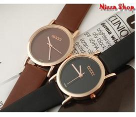 Cacs loại đồng hồ đeo tay kiểu dáng trẻ trung ,sành điệu : Đồng hồ dây da lộ máy, Gucci, logines, CK , ...