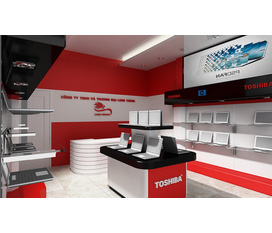 Thiết kế showroom hội chợ triển lãm, thi công trọn gói, Cty Không Gian Mở