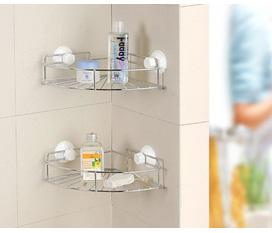 Tiết kiệm không gian nhà bếp và nhà tắm với giá góc đa năng bằng Inox.Giảm tới 40% chỉ còn 108k