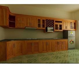 Tủ bếp gỗ Xoan Đào Gia Lai 100% tự nhiên