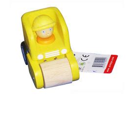 Xe nhỏ màu vàng, đồ chơi bằng gỗ cho trẻ em
