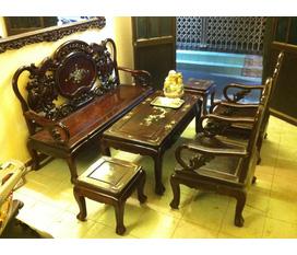Bán bộ bàn ghế giả cổ gỗ gụ