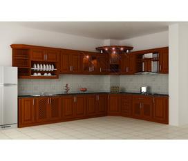 Tủ bếp gỗ xoan đào bắc tự nhên