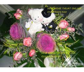 Shop hoa nghệ thuật online : hoa cưới,hoa pha lê ,hoa voan giảm giá 10%..Cho thuê hoa cô dâu bằng pha lê.
