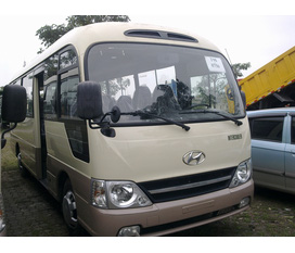 New...Hyundai County 29 chỗ Đồng Vàng, model 2012, giá cực tốt, xe và giấy tờ giao ngay...