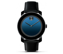 Đồng hồ Movado Large Bold Indigo Blue Leather Strap Watch