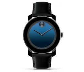 Đồng hồ Movado Large Bold Indigo Blue Leather Strap Watch