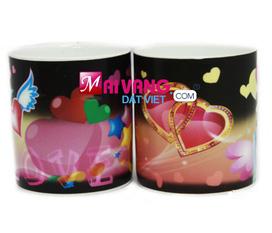 Cốc nước đổi màu cảm biến nhiệt Magic Love Cup