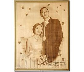 Khắc hình trên gỗ, quà tặng đám cưới, quà tặng sinh nhật