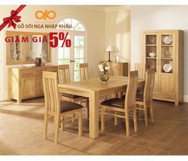Bếp , bộ bàn ăn gỗ Sồi Nga giá rẻ Giảm giá 2.500.000 VND