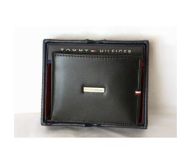 Ví Da Nam Tommy Hilfiger Genuine Leather Black