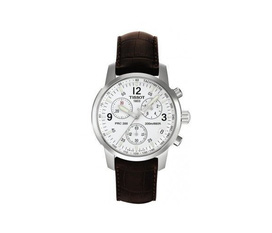 Đồng hồ Tissot Men s T0334101601300 T Classic Dream White Dial Brown Leather Strap Watch