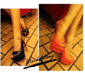 Giày cao gót hỡ mũi cao 12cm cực hot.