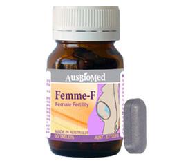 Femme F: Tăng khả năng thụ thai với các dưỡng chất từ thiên nhiên Sản phẩm của Ausbiomed Úc