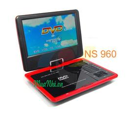 DVD xách tay NS 960, Đầu đĩa tivi xách tay có màn hình LCD DVD NS 968, DVD có màn hình SP 989, DVD 14inch