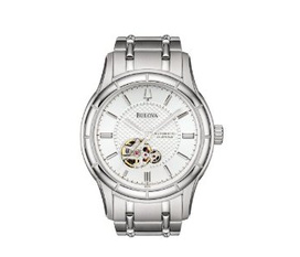 Đồng hồ Bulova Men s Mechanical Automatic Silver White Dial Watch 96A112