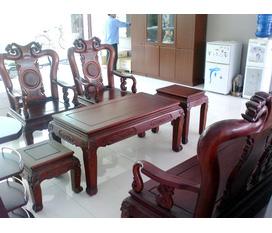 Cần bán bộ bàn ghế phòng khách Cao Cấp Gỗ Gụ Mỹ Hà