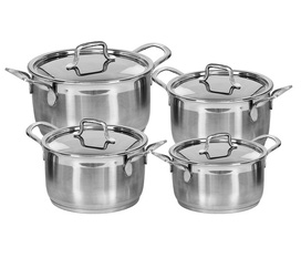 Bộ nồi Inox cao cấp Elegan Happy cook 3 chiếc, 3 đáy sử dụng được bếp từ giá bán 490k giảm còn 350k