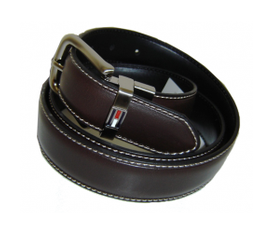 Dây lưng NAM tommy hilfiger mens 38 black /brown leather belt