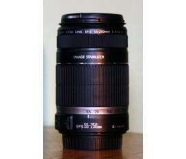 Bán lens Canon EF S 55 250 IS II grip 500D va pin