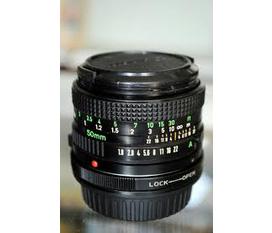 Bán lens Canon FD 50mm F 1:1.4 đã mos lên EOS