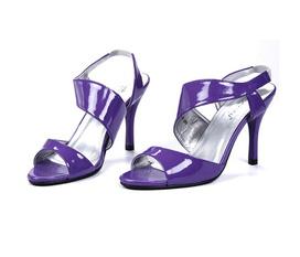 55% Off Giày cao gót bằng da cao cấp có quai,hở mũi, thiết kế trẻ trung,lạ mắt