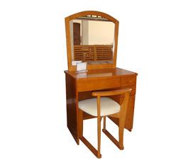 Nội thất phòng ngủ: bàn trang điểm gỗ tự nhiên sang trọng cao cấp, hiện đại.