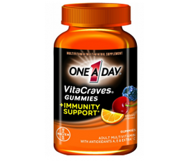 Vitamin hỗ trợ miễn dịch One A Day VitaCraves Gummy with Immunity Support Multivitamin