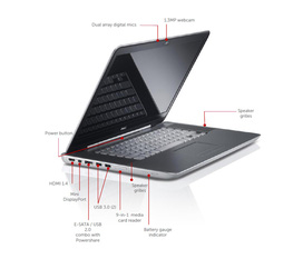 Bán Laptop Dell XPS 15Z Core i7 2640M 2.8 GHz, DDR3:8Gb, nVIDIA Geforce GT 525M 2GB