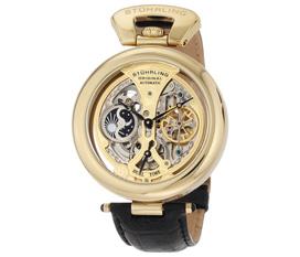 Đồng hồ Stuhrling Original 127A.333531 Emperor s Grandeur Automatic Skeleton Goldtone Dial