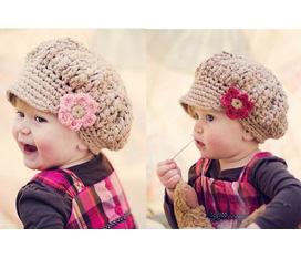 Nón len thời trang giành cho bé yêu