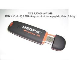 USB 3G tốc độ 7.2 Mb chuẩn kết nối HSDPA dùng cho tất cả các mạng giả giá 35% nay chỉ còn 420k .....