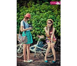 Những cô gái xinh đẹp mùa hè.Sự kết hợp của những gam màu tươi tắn mang tới ấn tượng ngọt ngào cho bộ trang phục của bạn