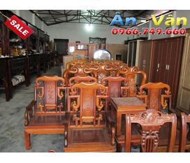 Bán bàn ghế gỗ Gụ, gỗ Hương phòng khách, phòng ăn giao hàng miễn phí tại Hải Phòng