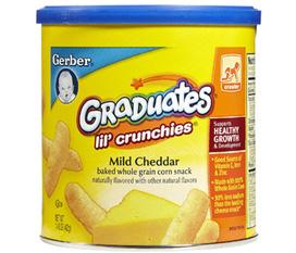 Bánh ăn dặm Gerber cho bé nhập từ Mỹ phô mai, chuối, dâu , cherry