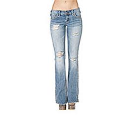 Quần bò Mỹ authentic 100% hiệu Silver Lola Jeans plare 28. rách gối, ống loe, màu bò bạc.