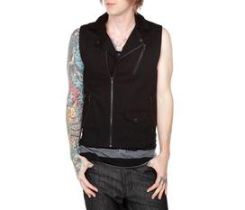 Áo khoác RUDE Black Zip Moto Vest