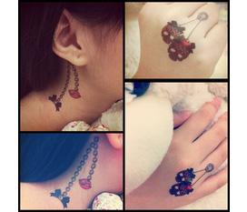 Hình Xăm Dán Tattoo dễ thương cho các bạn gái...