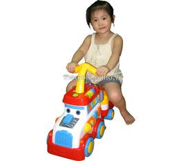 Ô tô tải thông minh 4 in 1: Xe tập đi, xe bơi chân, đồ chơi, bộ phát nhạc