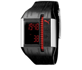 PUMA Unisex PU910501001 Cardiac II Black and Silver Heart Rate Monitor Watch, hàng chính hãng , ship trực tiếp tại Mỹ