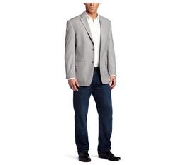 Haggar Men s Linen Stripe Two Button Center Vent Sport Coat,hàng chính hãng,ship trực tiếp tại Mỹ