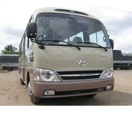 Xe khách Hyundai County 29 chỗ Đồng vàng:D4DD hàng 3 cục CKD linh kiện 100% nhập khẩu.Giá tốt dịch vụ tốt...Bán trả góp