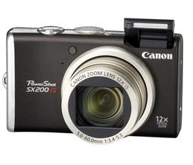 Bán máy ảnh canon SX200IS made in japan, siêu room kts 48X, quay phim full HD 720p, mới 99%