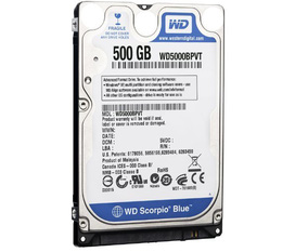 Western Digital 500gb 2.5inch