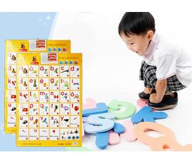 Bảng chữ cái điện tử treo thông minh, bảng chữ cái giúp bé đánh vần, học nhanh hơn