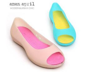 Giày búp bê bằng nhựa cao cấp, hở mũi, đủ màu sắc, thích hợp cho mùa hè