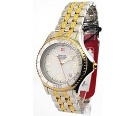 Đồng hồ Wenger Nam 79085 Military Steel Avalanche Two Tone Date Watch